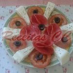 Queijo Fresco com tomate e salame