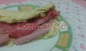 Omelete de Salame e Fiambre